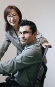 Businesspeople posing in office area — Stock Photo