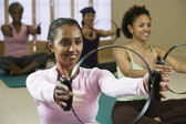 Multi-ethnic women in exercise class — Stock Photo