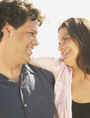 Couple smiling at each other — Stock Photo