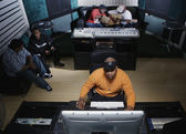 Musicians working on their music — Fotografia Stock