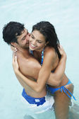 South American couple hugging — Stock Photo