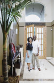 Couple posing inside home — Stock Photo