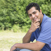 Portrait of Indian man outdoors — Stock Photo