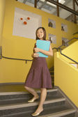 Portrait of businesswoman on staircase — Stock Photo