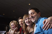 Friends smiling for the camera — Stock Photo