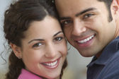 Portrait of a smiling young couple — Stock Photo