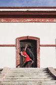 Hispanic couple tango dancing — Stock Photo