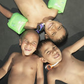 Young boys smiling for the camera — Stock Photo