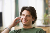 Man talking on cell phone — Stock Photo