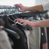 Close up of woman shopping — Stock Photo
