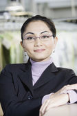 Close up of Asian businesswoman — Stock Photo