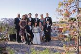 Hispanic family at Quinceanera — Stock Photo