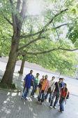 Grup birlikte ayakta üniversite öğrenci — Stok fotoğraf