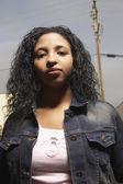 Teenage girl posing for the camera — Stock Photo