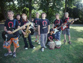 Group portrait of child band — Stock Photo