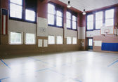 Interiors of an empty basketball court — Stock Photo