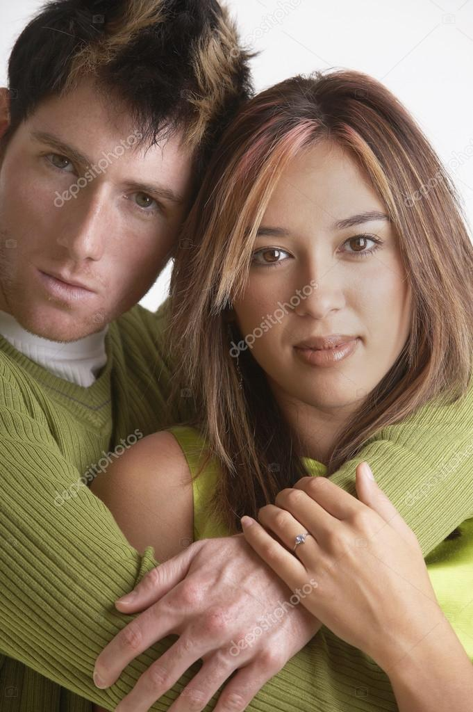 Portrait of couple hugging  Stock Photo #13220620