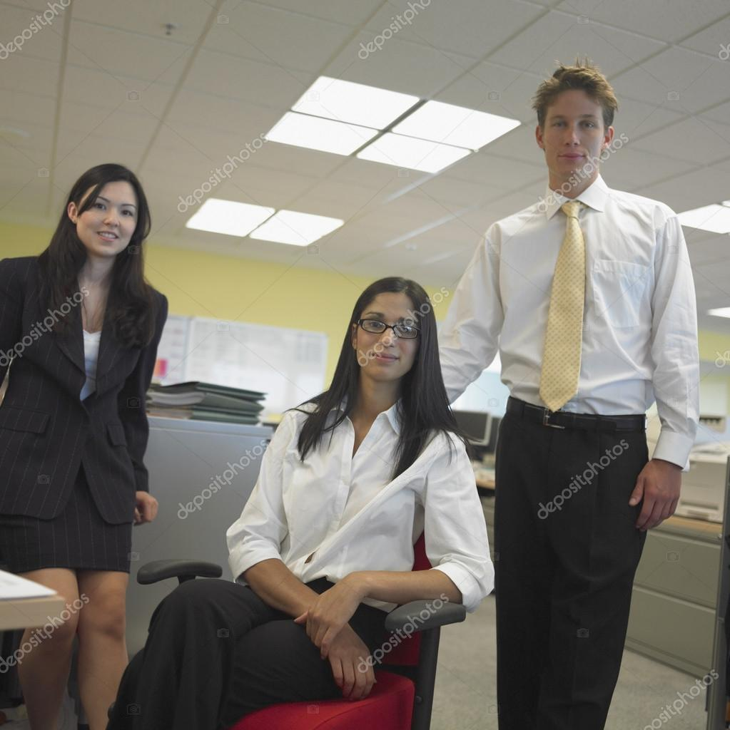 Man and women in office — Stock Photo #13226456