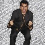 Portrait of Hispanic businessman yelling — Stock Photo #13236174