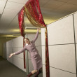 Businesswoman dancing in office area — Stock Photo