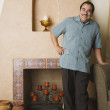 Portrait of middle-aged Hispanic man - Stock Photo