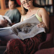 Young woman reading book — Stock Photo #13230326