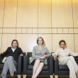Stock Photo: Portrait of three businesswomen sitting