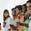 South American friends at party — Stock Photo