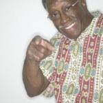 Portrait of senior man pointing — Stock Photo