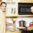 Couple cooking together — Stock Photo #13231656