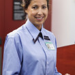Stock Photo: Portrait of airline worker