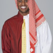Middle Eastern man wearing traditional dress and business attire — Stock Photo