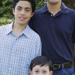 Stock Photo: Portrait of mwith two sons