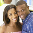 Couple smiling together — Stock Photo