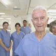 Healthcare professionals in hospital setting — Stock Photo