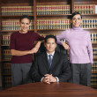 Multi-ethnic lawyers in office - Stock Photo
