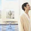 Stock Photo: Min robe at resort