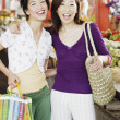 Two women shopping — Stock Photo