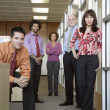 Stock Photo: Group portrait of business