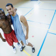 Stock Photo: Portrait of two basketball players