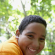 Close up of Hispanic boy smiling — Stock Photo