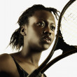Woman with tennis racket — Stock Photo #13234098