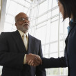 Stock Photo: Two businesspeople shaking hands