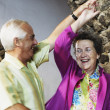 Senior couple dancing together — Stock Photo