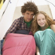 Couple in tent — Stock Photo #13234292