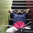 Man resting on stairs — Stock Photo