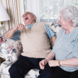 Senior couple laughing together — Foto Stock
