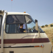 Young mdriving recreational vehicle — Foto de stock #13235381