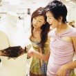 Royalty-Free Stock Photo: Two women shopping for lingerie