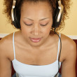 Woman with headset — Stock Photo #13235656